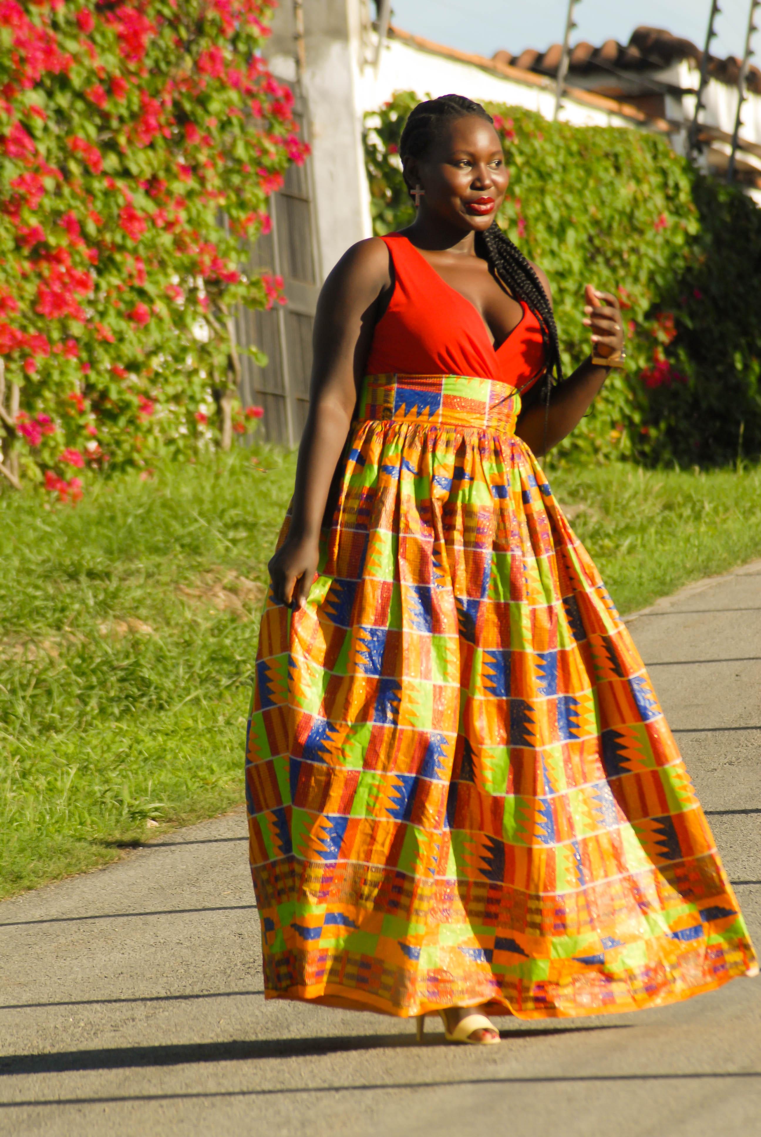 kitenge maxi and shear skirt maureen bandari